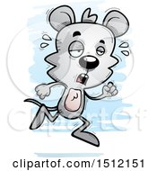 Clipart Of A Tired Running Male Mouse Royalty Free Vector Illustration