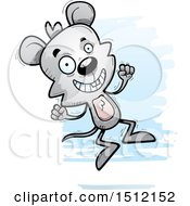 Clipart Of A Jumping Male Mouse Royalty Free Vector Illustration