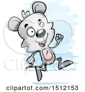 Clipart Of A Running Male Mouse Royalty Free Vector Illustration