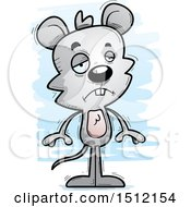 Clipart Of A Sad Male Mouse Royalty Free Vector Illustration