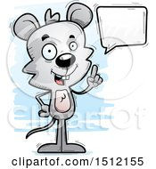 Clipart Of A Happy Talking Male Mouse Royalty Free Vector Illustration