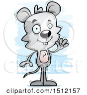 Clipart Of A Friendly Waving Male Mouse Royalty Free Vector Illustration