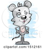 Clipart Of A Confident Female Mouse Royalty Free Vector Illustration
