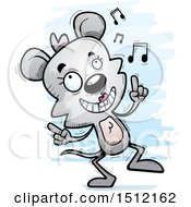 Clipart Of A Happy Dancing Female Mouse Royalty Free Vector Illustration
