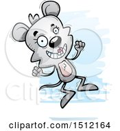 Clipart Of A Jumping Female Mouse Royalty Free Vector Illustration