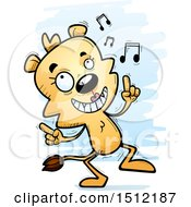 Clipart Of A Happy Dancing Lioness Royalty Free Vector Illustration