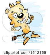 Clipart Of A Jumping Lioness Royalty Free Vector Illustration