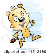 Clipart Of A Running Lioness Royalty Free Vector Illustration