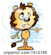 Clipart Of A Mad Pointing Male Lion Royalty Free Vector Illustration