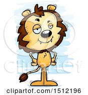 Clipart Of A Confident Male Lion Royalty Free Vector Illustration