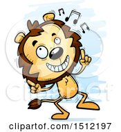 Clipart Of A Happy Dancing Male Lion Royalty Free Vector Illustration