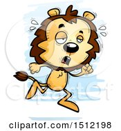 Clipart Of A Tired Running Male Lion Royalty Free Vector Illustration