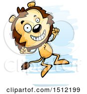 Clipart Of A Jumping Male Lion Royalty Free Vector Illustration