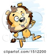Clipart Of A Running Male Lion Royalty Free Vector Illustration