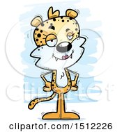 Clipart Of A Confident Female Leopard Royalty Free Vector Illustration