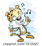 Clipart Of A Happy Dancing Female Leopard Royalty Free Vector Illustration by Cory Thoman