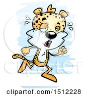 Clipart Of A Tired Running Female Leopard Royalty Free Vector Illustration by Cory Thoman
