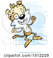 Clipart Of A Jumping Female Leopard Royalty Free Vector Illustration by Cory Thoman