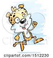 Clipart Of A Running Female Leopard Royalty Free Vector Illustration by Cory Thoman