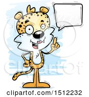 Clipart Of A Happy Talking Female Leopard Royalty Free Vector Illustration by Cory Thoman