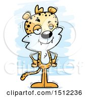 Clipart Of A Confident Male Leopard Royalty Free Vector Illustration by Cory Thoman