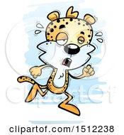 Clipart Of A Tired Running Male Leopard Royalty Free Vector Illustration by Cory Thoman