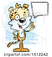 Clipart Of A Happy Talking Male Leopard Royalty Free Vector Illustration by Cory Thoman