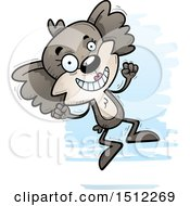 Clipart Of A Jumping Female Koala Royalty Free Vector Illustration by Cory Thoman