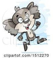 Clipart Of A Running Female Koala Royalty Free Vector Illustration by Cory Thoman