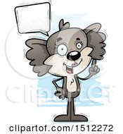 Clipart Of A Happy Talking Female Koala Royalty Free Vector Illustration by Cory Thoman