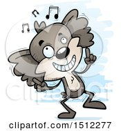 Clipart Of A Happy Dancing Male Koala Royalty Free Vector Illustration by Cory Thoman