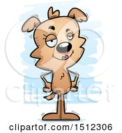 Clipart Of A Confident Female Dog Royalty Free Vector Illustration