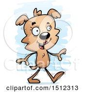 Happy Walking Female Dog