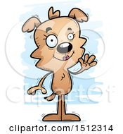 Clipart Of A Friendly Waving Female Dog Royalty Free Vector Illustration