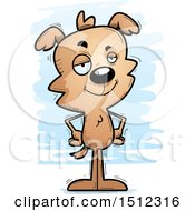Clipart Of A Confident Male Dog Royalty Free Vector Illustration