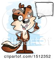 Clipart Of A Happy Talking Female Chipmunk Royalty Free Vector Illustration