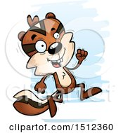 Clipart Of A Running Male Chipmunk Royalty Free Vector Illustration by Cory Thoman