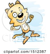 Clipart Of A Jumping Male Cat Royalty Free Vector Illustration