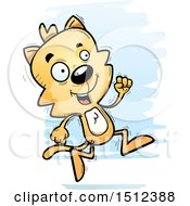 Clipart Of A Running Male Cat Royalty Free Vector Illustration