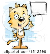 Clipart Of A Happy Talking Male Cat Royalty Free Vector Illustration
