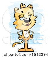 Clipart Of A Confident Female Cat Royalty Free Vector Illustration