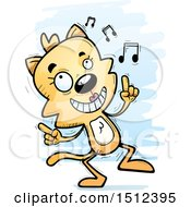 Clipart Of A Happy Dancing Female Cat Royalty Free Vector Illustration