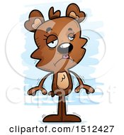 Clipart Of A Sad Female Bear Royalty Free Vector Illustration