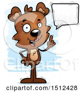 Clipart Of A Happy Talking Female Bear Royalty Free Vector Illustration