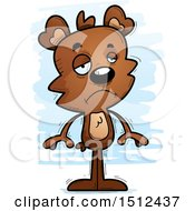 Clipart Of A Sad Male Bear Royalty Free Vector Illustration