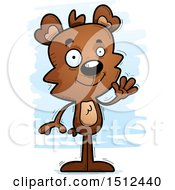 Clipart Of A Friendly Waving Male Bear Royalty Free Vector Illustration