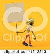 Clipart Of A 3d Zombie On A White Background Royalty Free Illustration