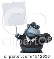 Clipart Of A 3d Business Gorilla Mascot Holding A Camera On A White Background Royalty Free Illustration