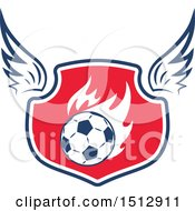 Clipart Of A Soccer Ball Shield Royalty Free Vector Illustration