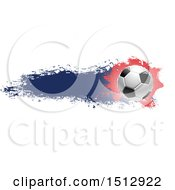 Soccer Ball And Grungy Flag Banner